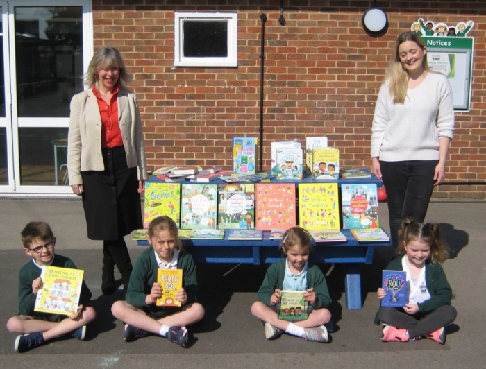 USBORNE BOOK DONATION TO HARLANDS SCHOOL